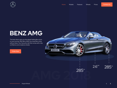 Car Landing Page design minimal ux ui car rental car logo car dashboard car ui design car design car landing page