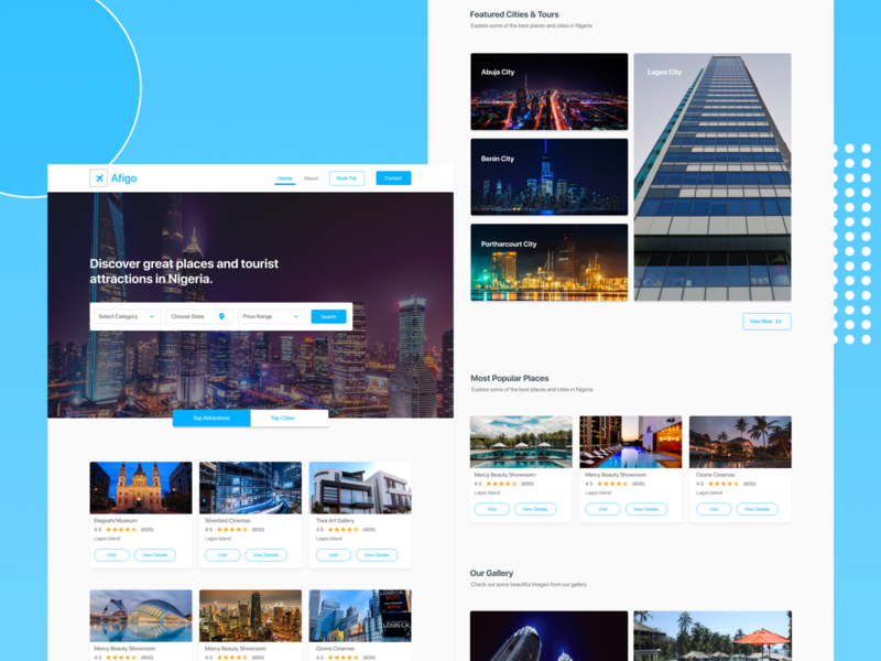 Travel Website website design travel ui landing page landing page design tourism travel website web ux ui design