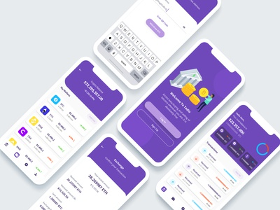 Cryptocurrency App app design crypto ui design bitcoin exchange bitcoin wallet cryptocurrency crypto wallet cryptocurrency app minimal app design ux ui