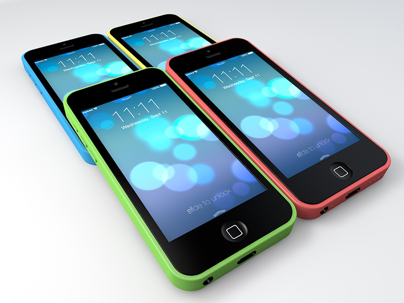 iPhone 5c Freebie Renders iphone5c 5c ui 3d freebie design ios7 c4d interface mockup apple