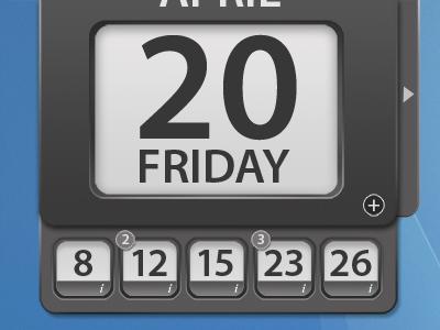 Minimal Calendar Interface