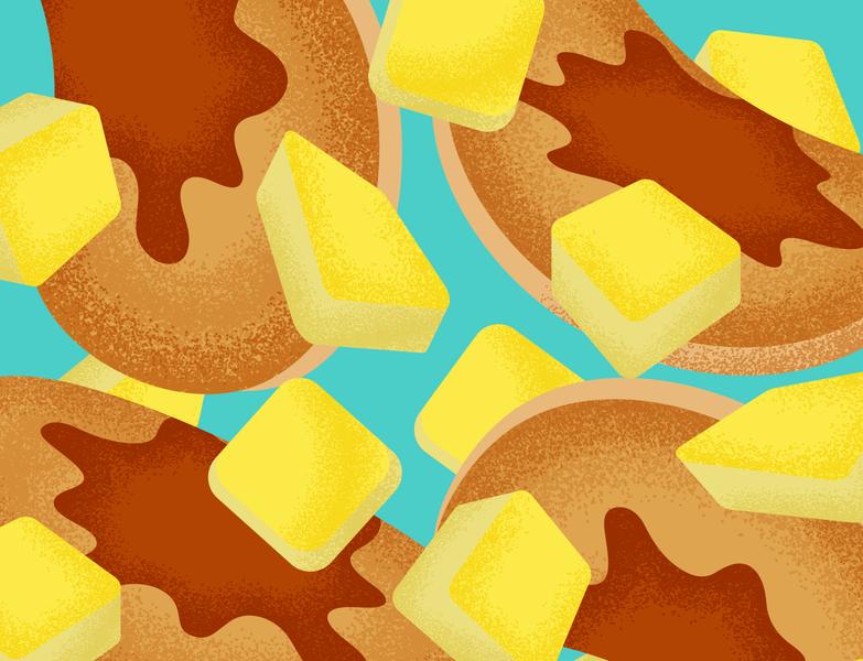 Pancakes (The Breakfast Series #3) pancakes butter illustration textured breakfast