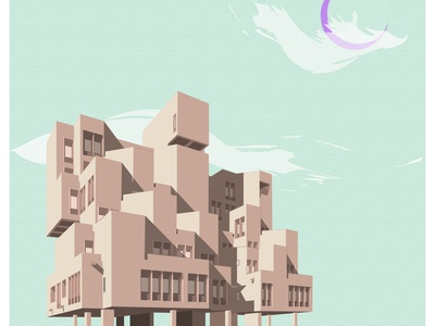 NDDB india art postmodern heritage brutalism illustration architecture