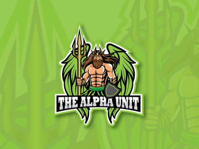 The Alpha Unit powerful wings mighty king power gaming logo twitch illustration logo design rubyarochonadesigns graphicdesign vector mascot logo logo design
