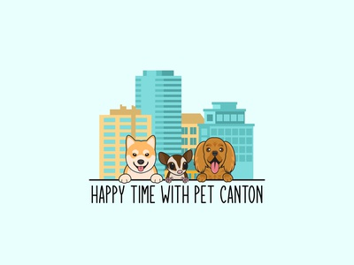 Pets In Town cartoon dog happy dogs sugar glider cockerspaniel pet in town shiba inu cartoon logo pet store logo pet shop logo illustration dog logo animal logo logo design mascot logo