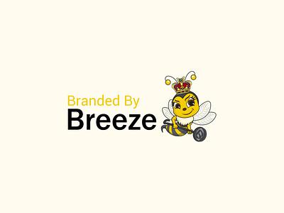 Queen Bee dribbble shots designer illustrator branding iron crown crown bee bee with crown cartoon bee queen bee bees cartoon logo illustration animal logo logo design mascot logo