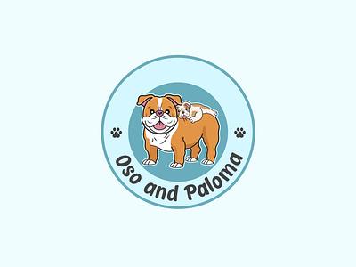 Cartoon Bulldogs americanbulldog frenchies bulldog design logo design pet shop logo cartoon logo dog logo illustration animal logo mascot logo cart mascotlogo branding logo graphic design