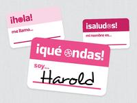 San Salvador Dribbble Meetup - Name Tags