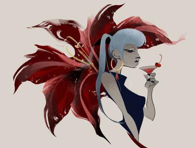 Girl design illustration