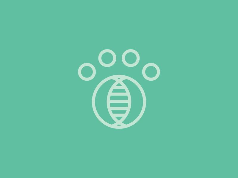 Genetic Analysis of Pets | Minimalistic Logo | first logo designs symbol design logo design logotype pet dna branding minimalism illustration simple logo design logo