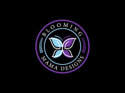 Butterfly logo design branding motion graphics graphic design blooming mama designs cosmetic logo logo design logo butterfly logo butterfly logo design