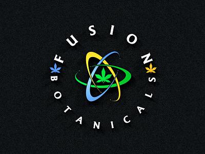Fusion Botanicals Logo graphic design logo design logo tech logo garden logo cigar logo bud logo ganja logo thc logo cannabis logo cbd logo weed logo hemp logo marijuana logo fusion logo botanical logo