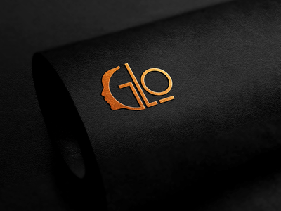 Glo Logo typography design branding graphic design logo nails logo spa logo cosmetic logo glo logo
