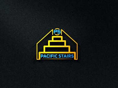 Pacific Stairs Logo logo design logo designer minimal logo modern logo sp logo ps logo stairs logo logo pacific stairs logo