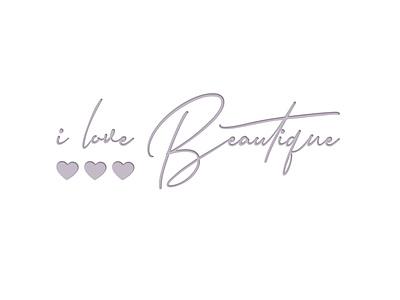 I Love Beautique logo design branding graphic design logo typography ty signature logo spa log beautique salon beautique cosmetic logo