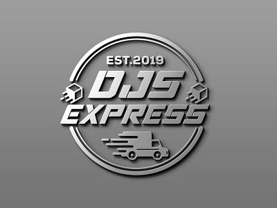 DJS Express Logo ui ux vector illustration typography illustrator design branding graphic design logo djs logo delivery logo