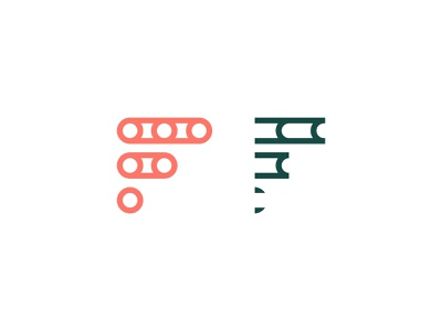 F Monogram logodesign idendity design creative branding minimal logotype logo illustrator digital