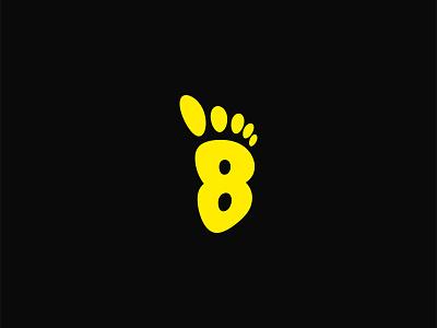 8 Feet digital illustrator idendity design creative branding minimal logodesign logos logotype logo