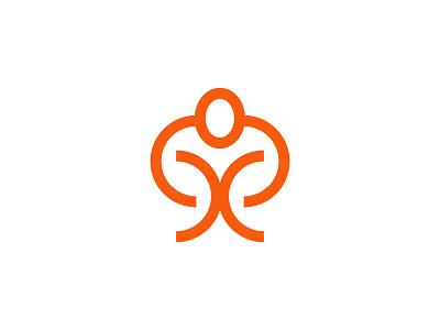 muscle man logos digital illustrator idendity logodesign design creative branding minimal logotype logo