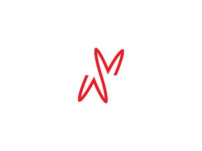 Rabbit logos logodesign idendity design branding illustration mark symbol flat creative minimal rabbit logotype logo