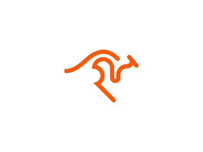 Symmetrical Kangaroo symbol elegant easy simple illustrator vector illustration idendity design minimal kapanadze modern creative ornamental animal graphic design branding kangaroo logotype logo