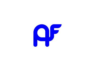 AF Animal graphic design icon easy simple flat modern illustrator vector illustration kapanadze monogram symbol idendity design creative branding minimal animal logotype logo