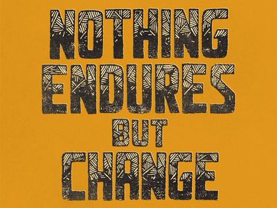 'Change' revisited...