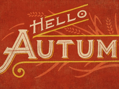 Autumn  burlap vintage feed bag hand lettering typography signage fall autumn