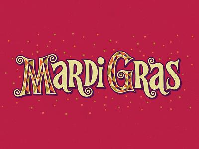 Mardi Gras  wip vibes retro funky serif latin handmade lettering mardi gras