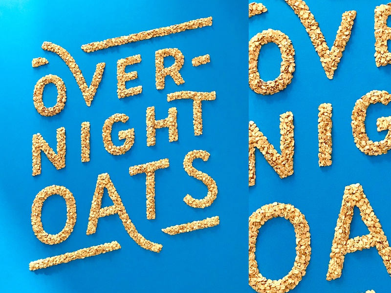 Overnight Oats commercial type handmade food oats breakfast lettering stop frame animation animation typography