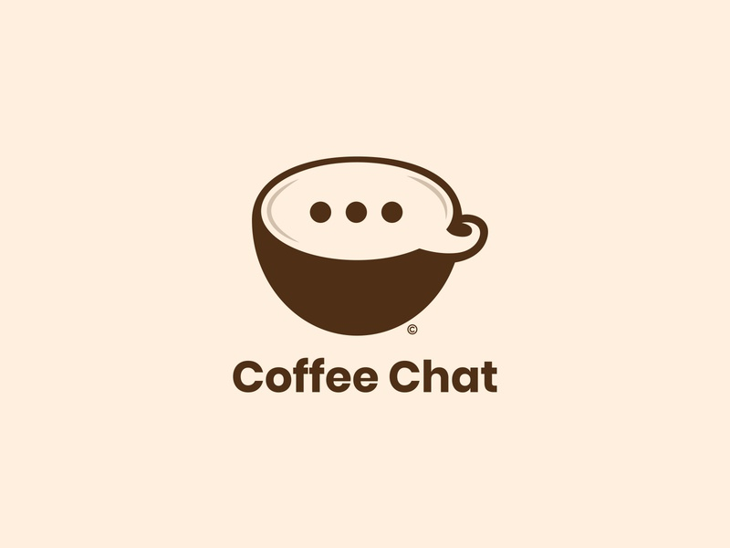 Coffee Chat Logo Design logostar daily logo challenge chat coffee shop coffee cup coffee branding logo