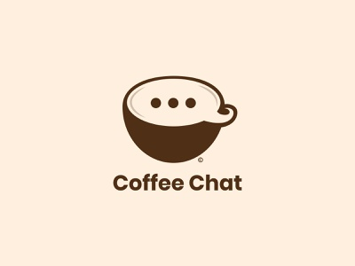 Coffee Chat Logo Design logostar daily logo challenge chat coffee shop coffee cup coffee branding logo