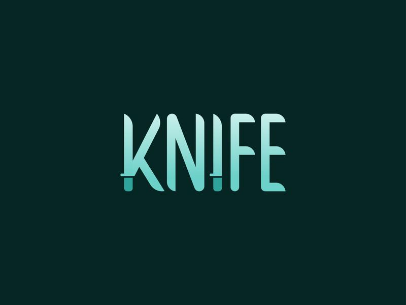 Knife Wordmark Logo Design logostar brand identity knife knifes knife logo daily logo challenge branding logo