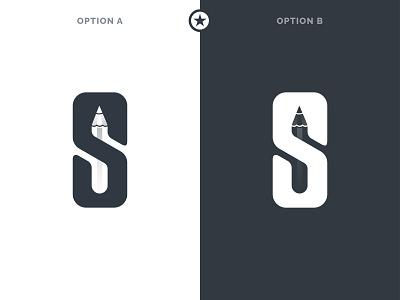 Spen Logo - Letter with Pencil brand identity logostar letter logos letter logo pencil pen spend logo design daily logo challenge branding logo