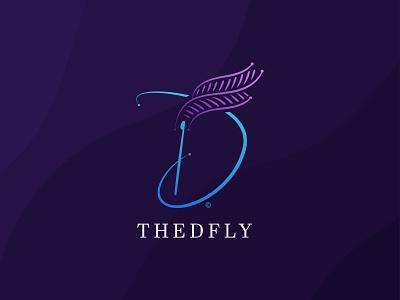 TheDFly - Letter D Logo Design alphabet logo d logo letter d logo letter d branding design logo design daily logo challenge branding logo