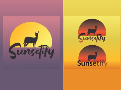 Sunsetify Company Logo Design |  Modern Logo mark logotype vector digital logo dribbble design logo designer in nepal tycx)graphy technology logo designer branding concept modern best designer in dribbble branding and identity branding brand design