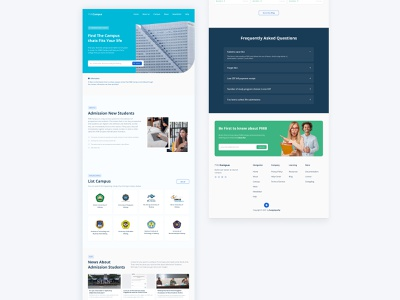 Admission of New Students - Landing page flat logo icon web ux app design ui