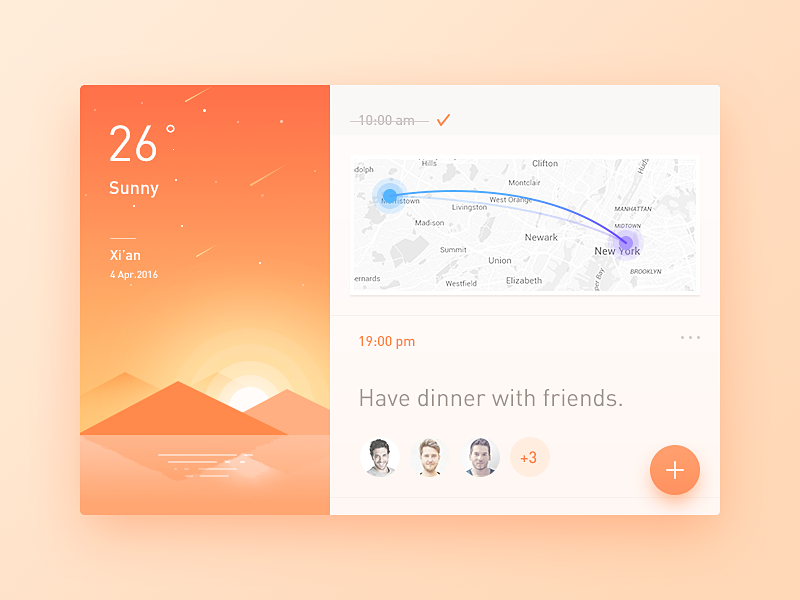 Schedule weather sunny schedule simple clean illustration ui ux app daily ui