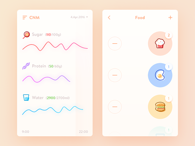CNM health nutritional cnm simple clean illustration ui ux app daily ui