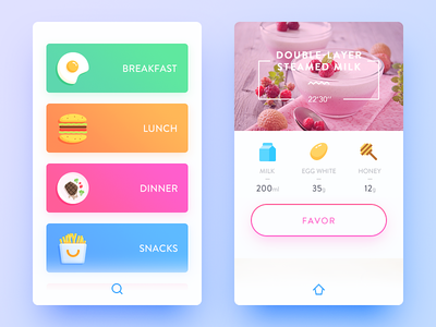 Cooking cook snacks dinner lunch breakfast simple color illustration ui ux app daily ui