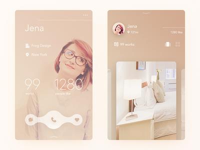 Interior profile designer interior pure simple clean ui ux app daily ui