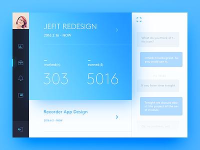 Job job dashboard freelancer color blue simple clean ui ux app daily ui
