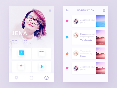My Trip collection user trip card color simple clean ui ux app daily ui