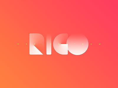 RIGO gradient design team red logo