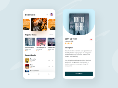 Book Store App ux ui typography product books store book page book cover bookshelf design awesome books book store