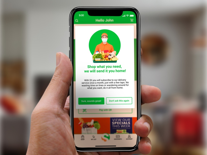 #UXWriting - Day 4 uxdesign uxui ux from home subscription promotion one time offer shipping groceries grocery store shopping design app figma dailychallenge behance ui