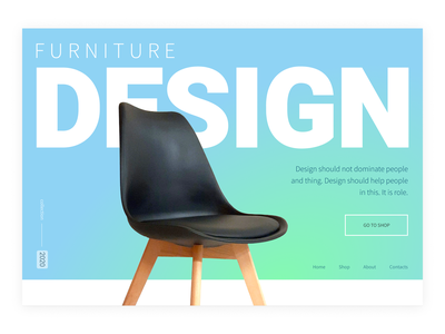 Web main desktop furniture branding typography web design