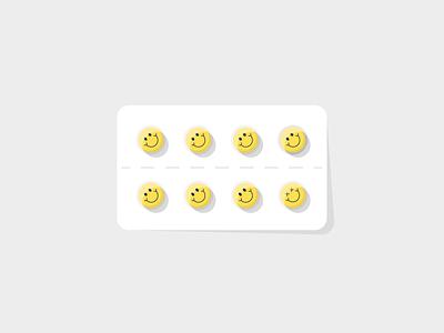 Happy pills - deadly pills pharmacy medical medicine pills item illustration