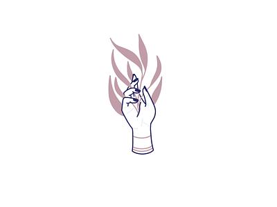 Handful of life procreate simple minimalistic hand illustraion life plant tattoo