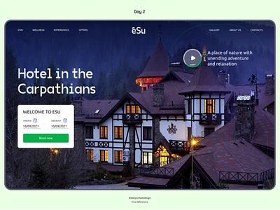 Tourist aparthotel website 30daysofwebdesign concept design co